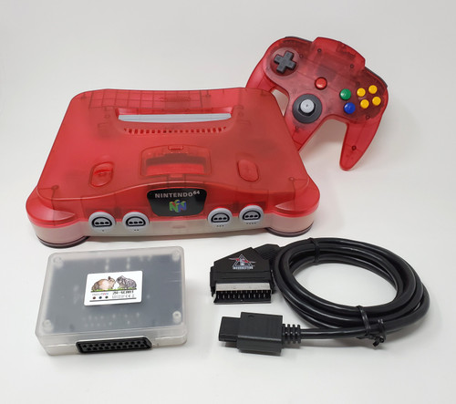 RGB Modified Nintendo 64  Region Free Console RetroTink SCART Bundle N64006