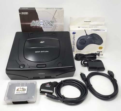 Sega Saturn Pre-Installed MODE Console RetroTink SCART Bundle  - SAT-006