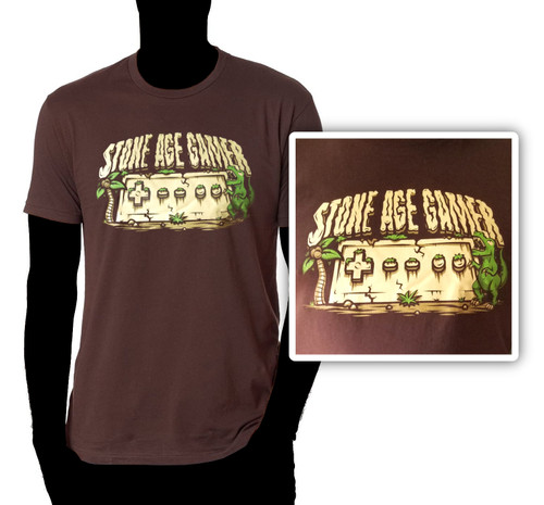"Stone Age Gamer ""Jurassic Controller"" T-Shirt"