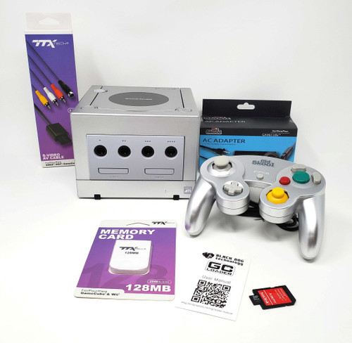 Silver Nintendo GameCube GC Loader Console - Modified - DOL-031