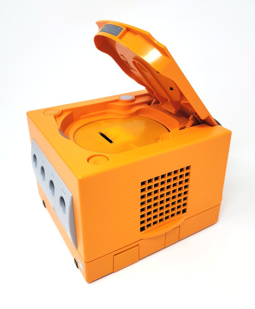 Spice Orange GameCube GC Loader Console Bundle w/ White LED's DOL034