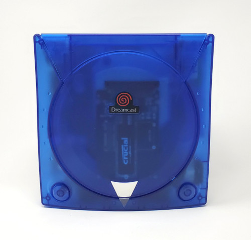 Modified Blue Sega Dreamcast Console  - DCDigital - MODE M.2 500GB Bundle DC014