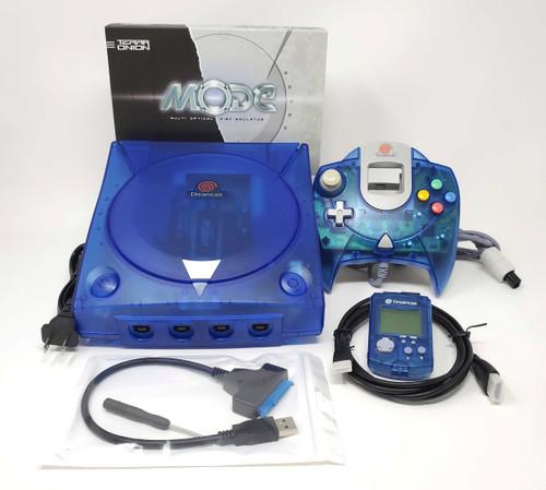 Modified Blue Sega Dreamcast Console  - DCDigital - MODE M.2 500GB Bundle DC014