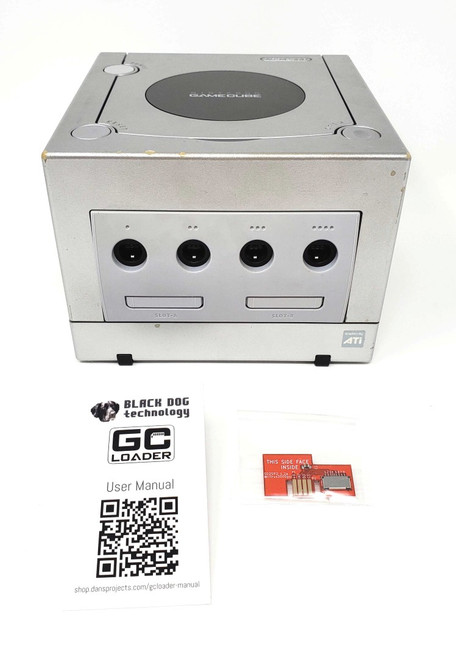 Silver Nintendo GameCube GC Loader Console - HD Modified - DOL-036