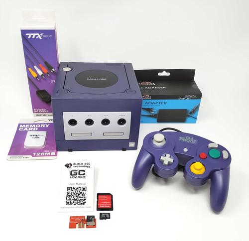 Purple Nintendo GameCube GC Loader Console - Modified - DOL-038