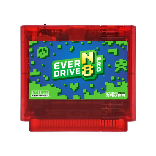 EverDrive-N8 Pro (Azure Jungle - Red) [Famicom]