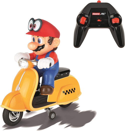 Carrera RC Official Licensed Super Mario Odyssey Scooter 1: 20 Scale 2.4 Ghz Remote Radio Control Car with Rechargeable Lifepo4 Battery