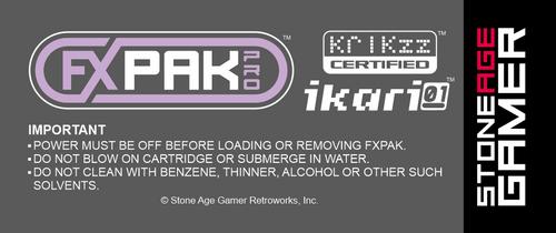 FXPak Pro North American Back Label (Gray)