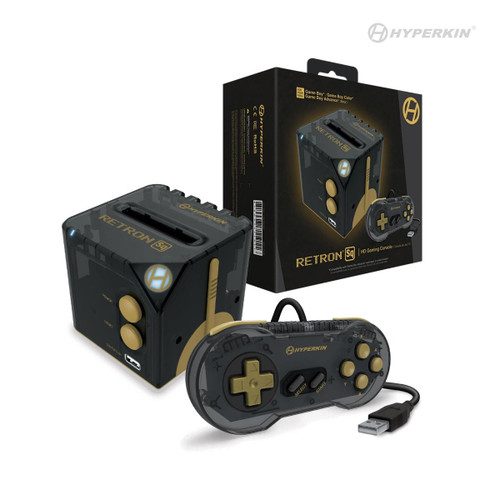 Hyperkin RetroN Sq: HD Gaming Console for Game Boy / Color / Advance - Black Gold