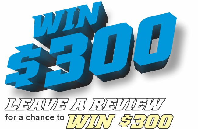 Leave a review for a chance to win $200