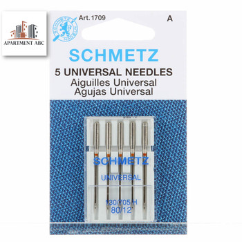 Schmetz 80/12 Universal Sewing Machine Needles 5pcs