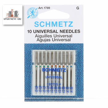 Schmetz Assorted 70/80/90 Universal Sewing Machine Needles 10/pkg