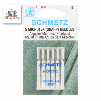 Schmetz 60/8 Microtex (Sharp) Sewing Machine Needles 1732