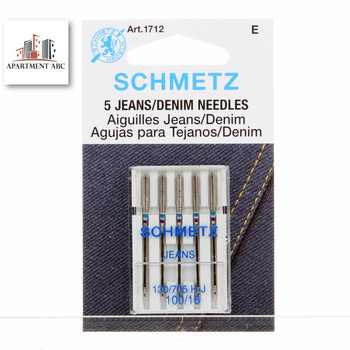Schmetz –  1712 Jeans Sewing Machine Needles size 100/16