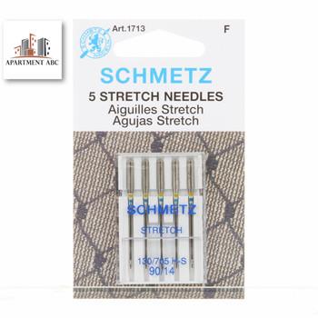 Schmetz 90/14 Stretch Sewing Machine Needles 5/pkg
