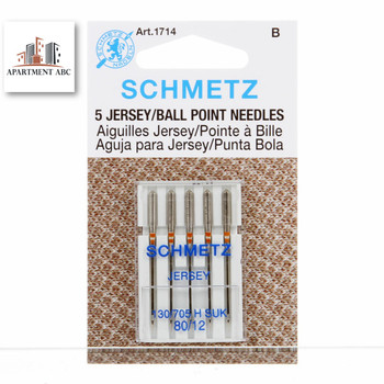 Schmetz Jersey/Ball Point Needles Size 80/12 #1714