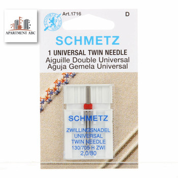 Schmetz Twin Needles Size 2.0/80 #1716