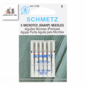Schmetz Microtex Needles Size 80/12 #1730