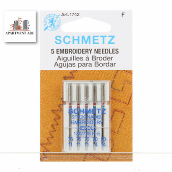 Schmetz Embroidery Needles Size Assorted #1742