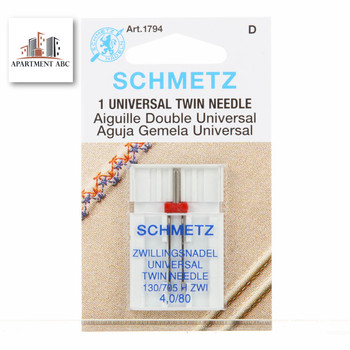 Schmetz Twin Needles Size 4.0/80 #1794