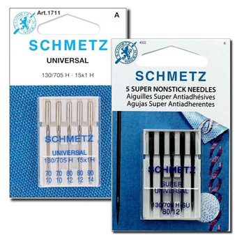 Felt and Craft Machine Needles Combo Pack, 5 x 80/12 Super Nonstick and (2x70/10, 2x80/12, 1x90/14) Universal Needles