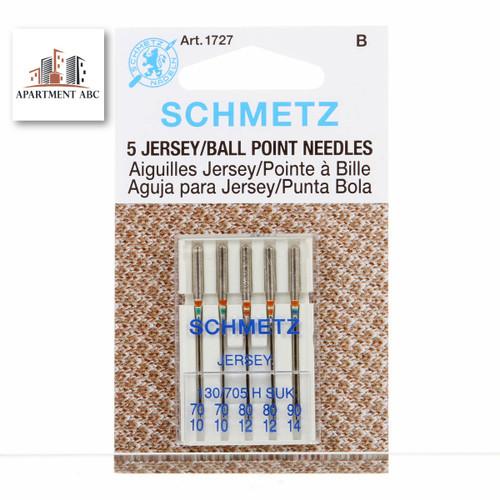 Schmetz Assorted 70/80/90 Jersey/Ball Point Needles 5/Pkg