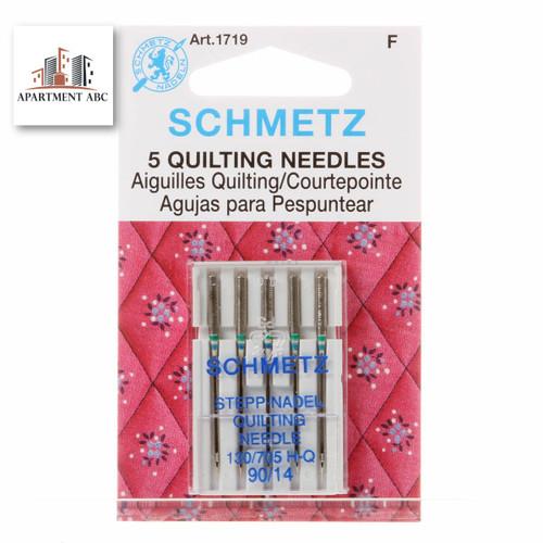 Schmetz 90/14 Quilting Sewing Machine Needles 5/pkg