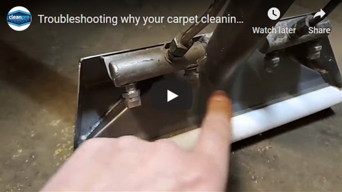 Troubleshooting why your carpet cleaning wand is not spraying water