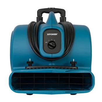XPOWER P-630HC 1/2 HP Air Mover w/ Telescopic Handle & Wheels & Carpet Clamp