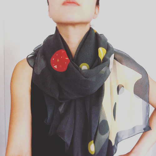 A FEAST FOR THE BODY | More Pizza Please Silk Scarf