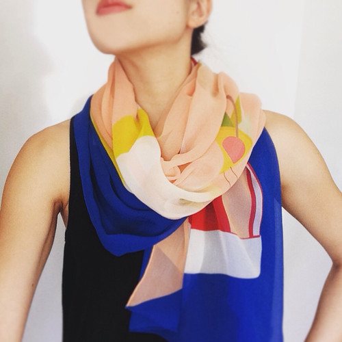 A FEAST FOR THE BODY | Cocktail O'Clock Silk Scarf