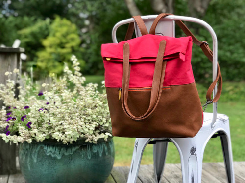 Greenpoint Convertible Backpack - Poppy Red/Maple