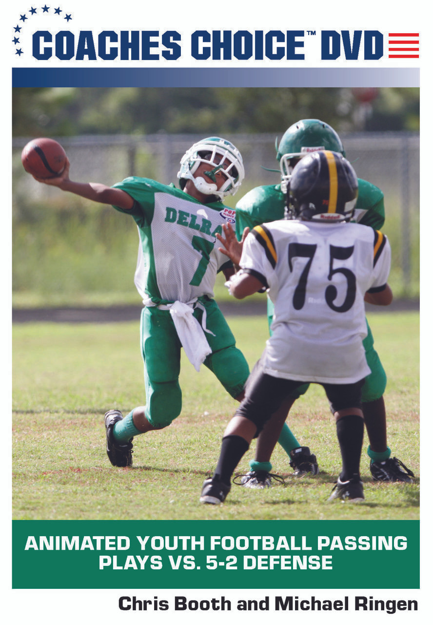 Animated Youth Football Passing Plays Vs 5 2 Defense One Of Many