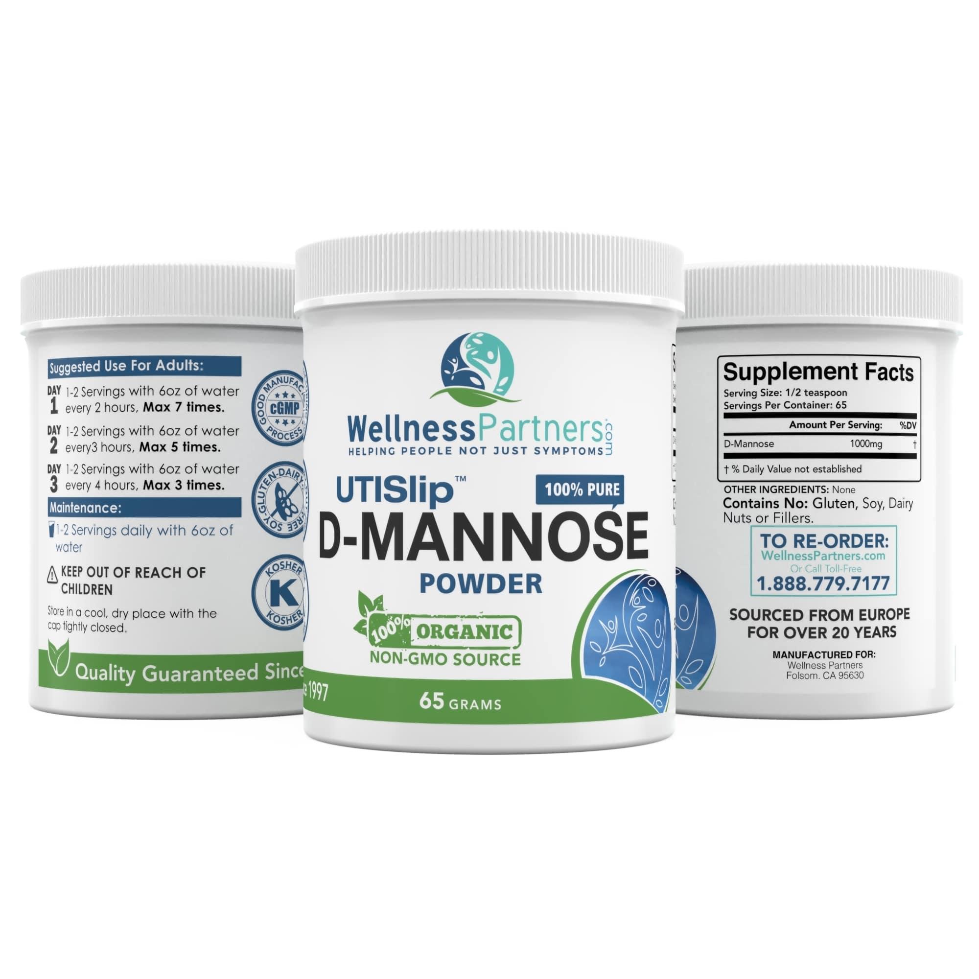 UTI Slip D-Mannose Powder 65g Jar