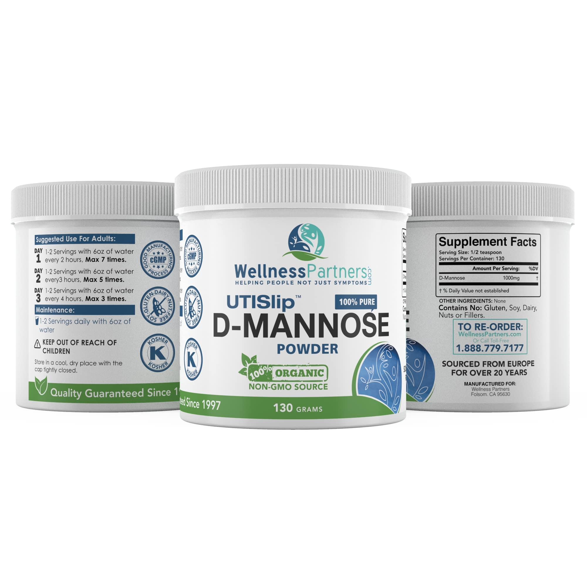 UTI Slip D-Mannose Powder 130g Large Jar