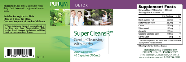 Purium 10-day Transformation CLEANSE- Apple Berry Flavor