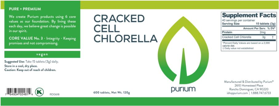 Purium Cracked Cell Chlorella - 600 ct - Less than on Amazon