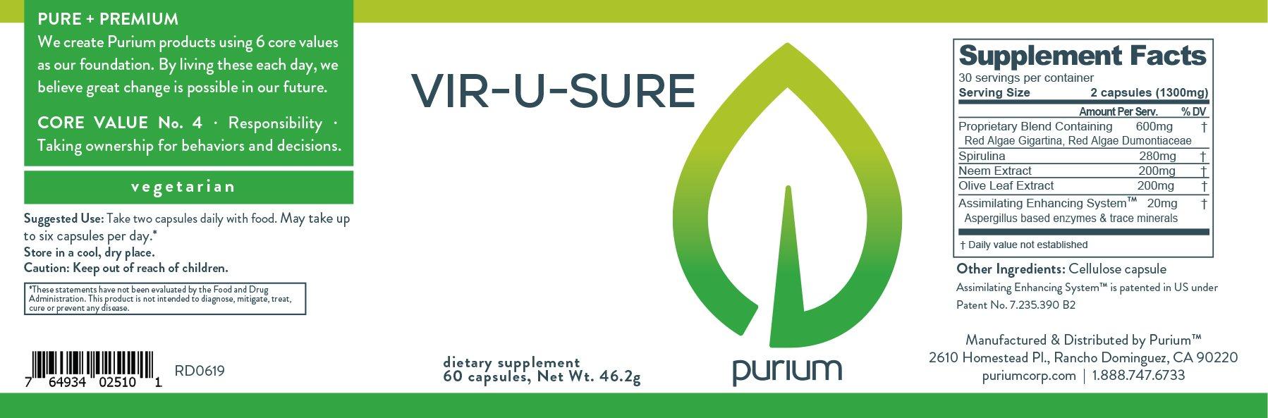Purium Vir-U-Sure - 60 ct