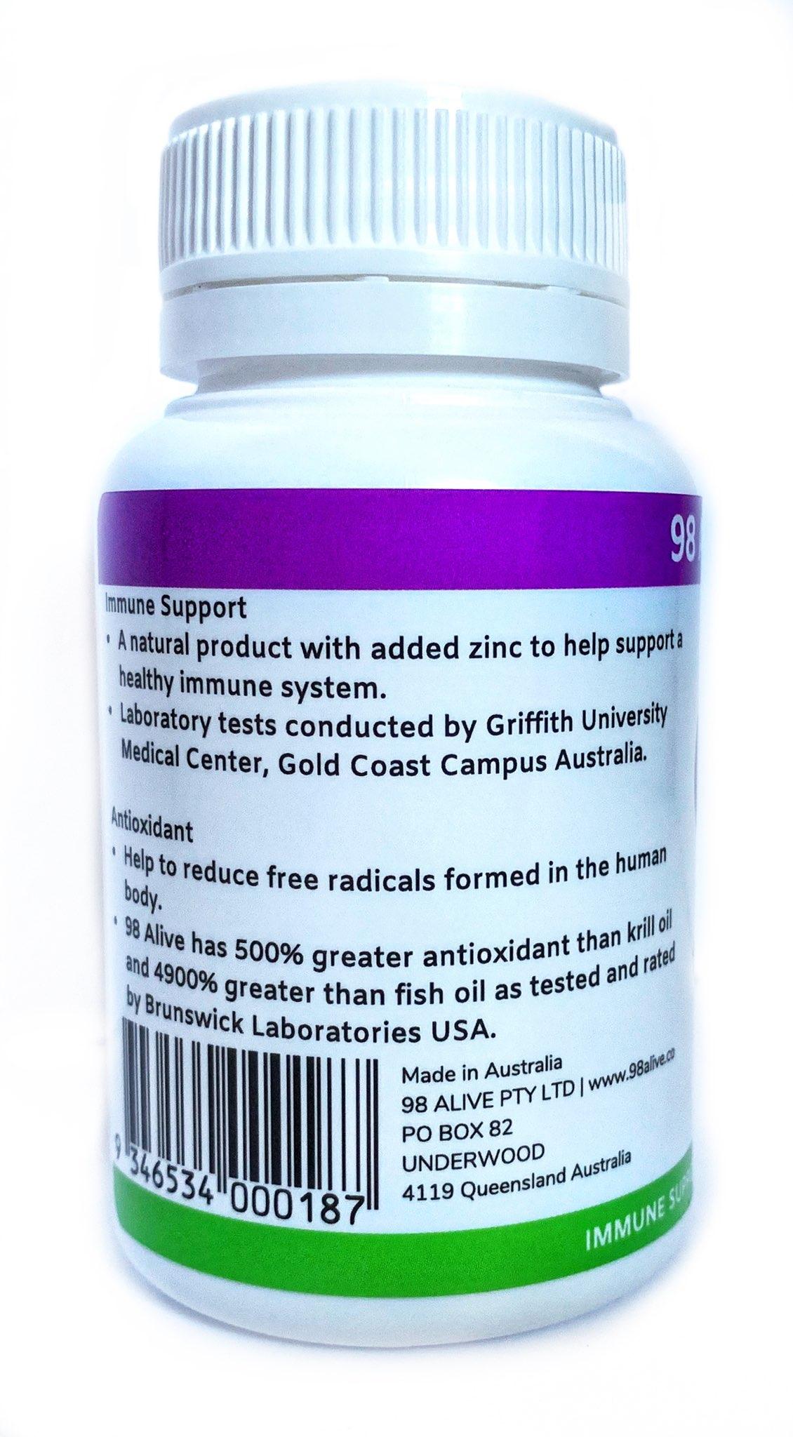 98 Alive Immune Support 60 capsules