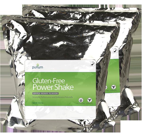 Purium Power Shake- Apple Berry Flavor -2 Terra Pouches 30 servings