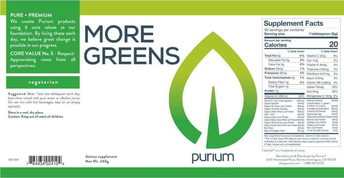 Purium More Greens