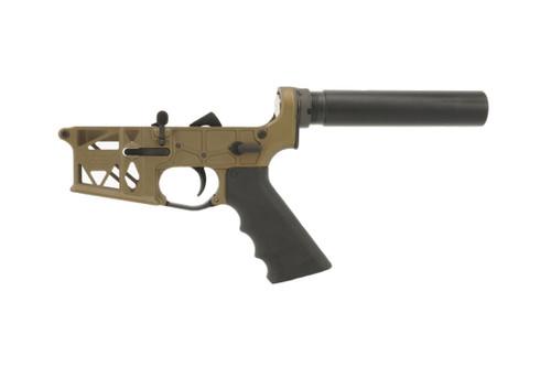 Burnt Bronze Skeleton Grid Defense Pistol Lower AR15