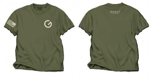Ghost Firearms T-Shirt Military Green/Tan