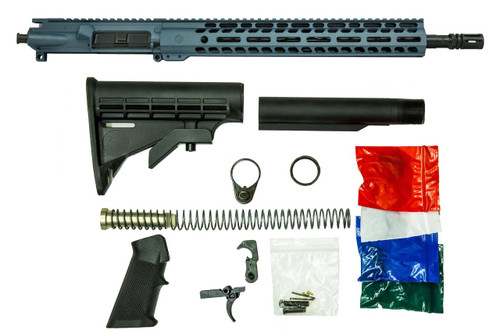 Cerakoted AR 15 Rifle Kit in Blue Titanium Ghost Firearms 80% Lower needed