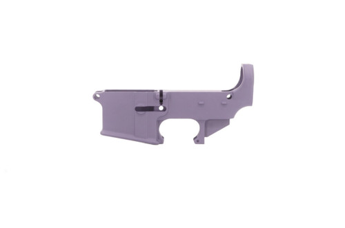 Ghost Firearms AR15 80% Lower Receiver finished in Tactical Grape Cerakote