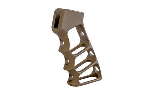 AR15 Skeleton Pistol Grip in Burnt Bronze Cerakote by Tactical Dynamics