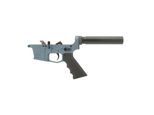 Grid Defense Glock Style 9mm Complete Pistol Lower Receiver in Blue Titanium Cerakote