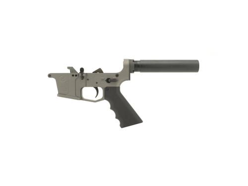 Grid Defense Glock Style 9mm Complete Pistol Lower Receiver in Tungsten Gray Cerakote