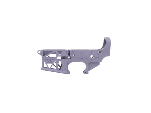 Purple AR15 Stripped Skeleton Lower Receiver by Grid Defense - Made in the USA