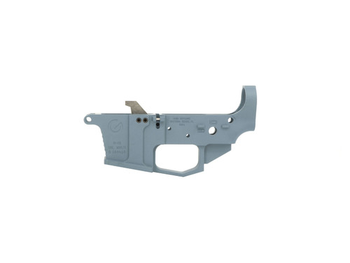 Grid Defense AR-9 Stripped Lower Receiver in Blue Titanium Cerakote